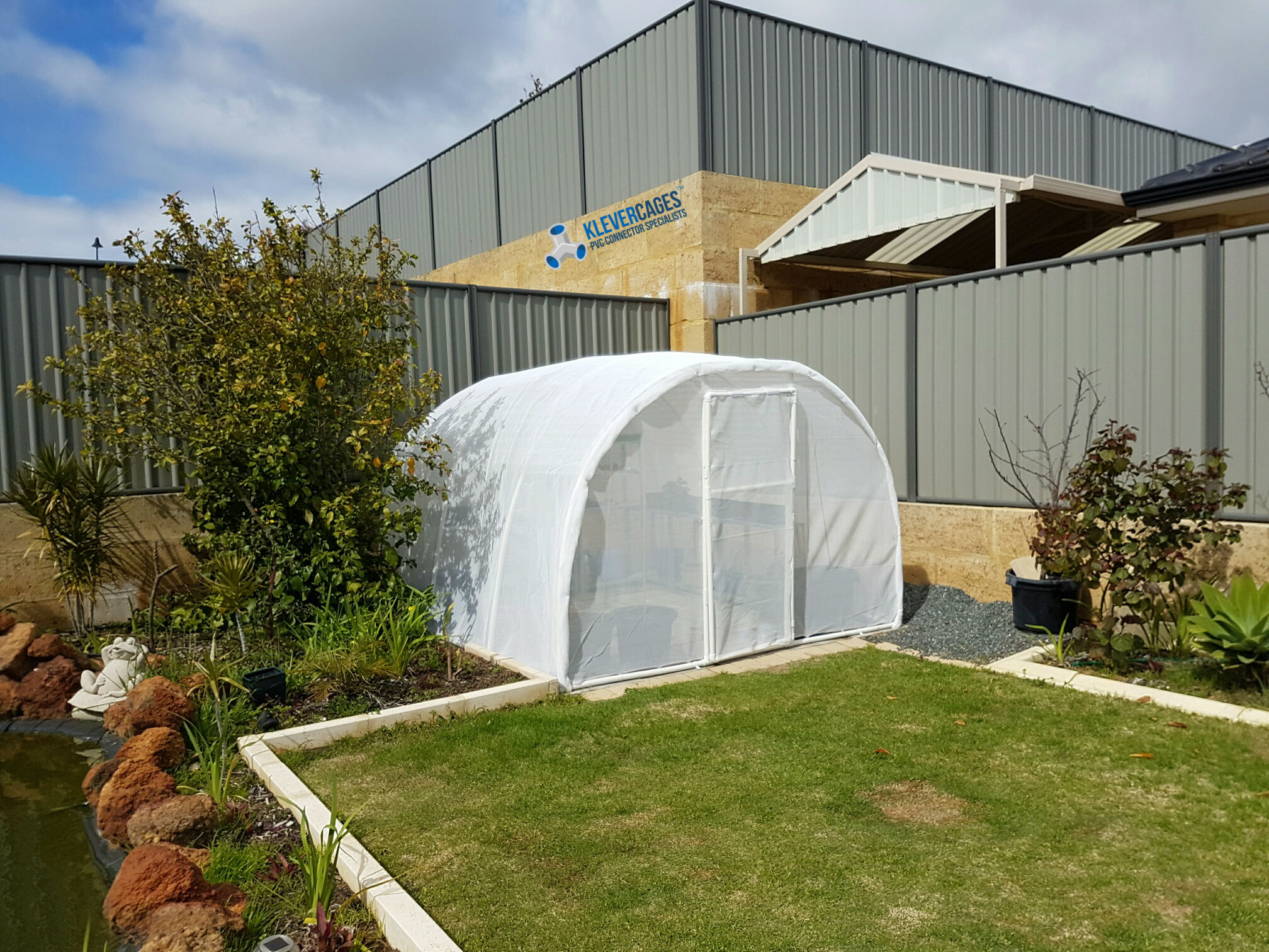 DIY Easy to design and assemble PVC frame arched greenhouse.